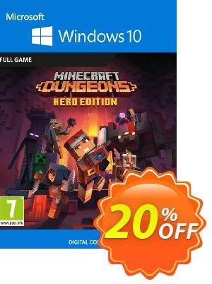 Minecraft Dungeons: Hero Edition - Windows 10 PC (UK) discount coupon Minecraft Dungeons: Hero Edition - Windows 10 PC (UK) Deal 2021 CDkeys - Minecraft Dungeons: Hero Edition - Windows 10 PC (UK) Exclusive Sale offer for iVoicesoft