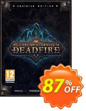 Pillars of Eternity II 2 Deadfire Obsidian Edition PC discount coupon Pillars of Eternity II 2 Deadfire Obsidian Edition PC Deal 2021 CDkeys - Pillars of Eternity II 2 Deadfire Obsidian Edition PC Exclusive Sale offer for iVoicesoft
