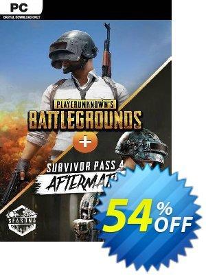 PlayerUnknown's Battlegrounds (PUBG) PC + Survivor Pass 4 Aftermath DLC discount coupon PlayerUnknown's Battlegrounds (PUBG) PC + Survivor Pass 4 Aftermath DLC Deal 2021 CDkeys - PlayerUnknown's Battlegrounds (PUBG) PC + Survivor Pass 4 Aftermath DLC Exclusive Sale offer for iVoicesoft