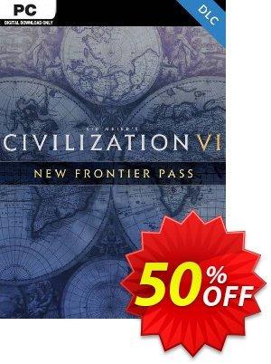 Sid Meier's: Civilization VI - New Frontier Pass PC - DLC (EMEA) discount coupon Sid Meier's: Civilization VI - New Frontier Pass PC - DLC (EMEA) Deal 2021 CDkeys - Sid Meier's: Civilization VI - New Frontier Pass PC - DLC (EMEA) Exclusive Sale offer for iVoicesoft