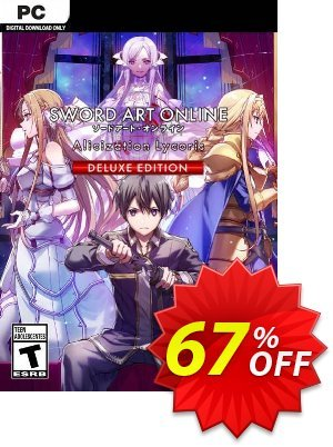 SWORD ART ONLINE Alicization Lycoris Deluxe PC discount coupon SWORD ART ONLINE Alicization Lycoris Deluxe PC Deal 2021 CDkeys - SWORD ART ONLINE Alicization Lycoris Deluxe PC Exclusive Sale offer for iVoicesoft