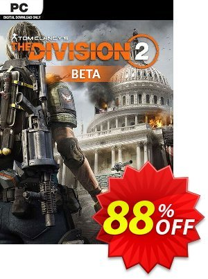 Tom Clancys The Division 2 PC Beta discount coupon Tom Clancys The Division 2 PC Beta Deal 2021 CDkeys - Tom Clancys The Division 2 PC Beta Exclusive Sale offer for iVoicesoft