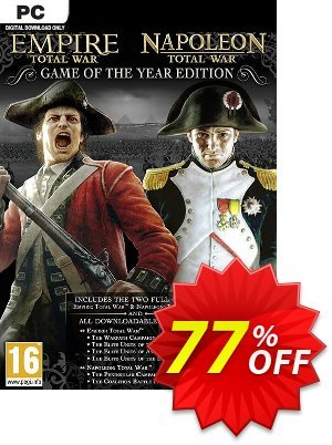 Total War: Empire & Napoleon GOTY PC (EU) discount coupon Total War: Empire & Napoleon GOTY PC (EU) Deal 2021 CDkeys - Total War: Empire & Napoleon GOTY PC (EU) Exclusive Sale offer for iVoicesoft