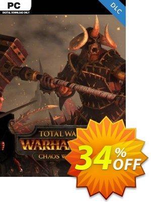 Total War: Warhammer - Chaos Warriors DLC discount coupon Total War: Warhammer - Chaos Warriors DLC Deal 2021 CDkeys - Total War: Warhammer - Chaos Warriors DLC Exclusive Sale offer for iVoicesoft