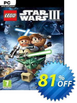 LEGO Star Wars III: The Clone Wars PC discount coupon LEGO Star Wars III: The Clone Wars PC Deal 2021 CDkeys - LEGO Star Wars III: The Clone Wars PC Exclusive Sale offer for iVoicesoft