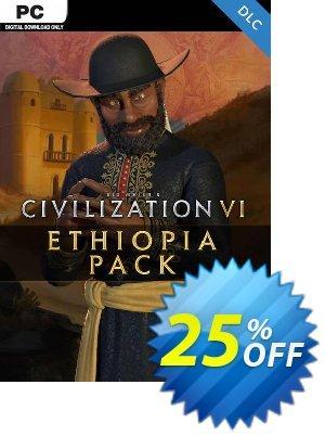 Sid Meier's Civilization VI - Ethiopia Pack PC - DLC discount coupon Sid Meier's Civilization VI - Ethiopia Pack PC - DLC Deal 2021 CDkeys - Sid Meier's Civilization VI - Ethiopia Pack PC - DLC Exclusive Sale offer for iVoicesoft
