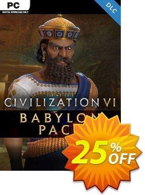 Sid Meier's Civilization VI: Babylon Pack PC - DLC discount coupon Sid Meier's Civilization VI: Babylon Pack PC - DLC Deal 2021 CDkeys - Sid Meier's Civilization VI: Babylon Pack PC - DLC Exclusive Sale offer for iVoicesoft