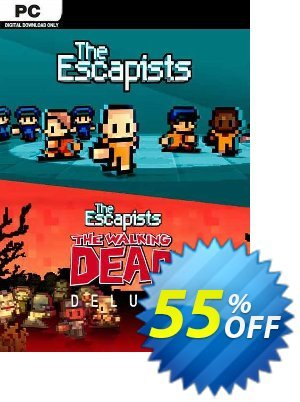 The Escapists + The Escapists: The Walking Dead Deluxe PC discount coupon The Escapists + The Escapists: The Walking Dead Deluxe PC Deal 2021 CDkeys - The Escapists + The Escapists: The Walking Dead Deluxe PC Exclusive Sale offer for iVoicesoft