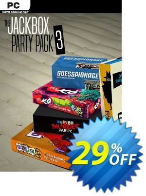 The Jackbox Party Pack 3 PC discount coupon The Jackbox Party Pack 3 PC Deal 2021 CDkeys - The Jackbox Party Pack 3 PC Exclusive Sale offer for iVoicesoft