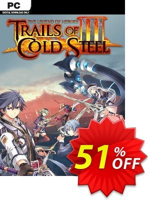 The Legend of Heroes: Trails of Cold Steel III PC Coupon discount The Legend of Heroes: Trails of Cold Steel III PC Deal 2021 CDkeys