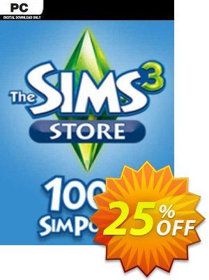 The Sims 3 - 1000 SimPoints PC discount coupon The Sims 3 - 1000 SimPoints PC Deal 2021 CDkeys - The Sims 3 - 1000 SimPoints PC Exclusive Sale offer for iVoicesoft