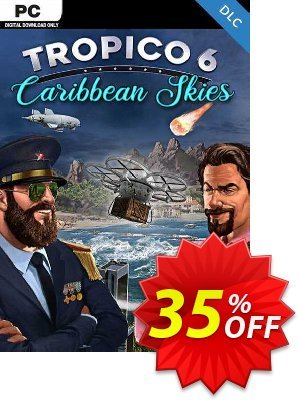 Tropico 6 - Caribbean Skies PC - DLC (EU) discount coupon Tropico 6 - Caribbean Skies PC - DLC (EU) Deal 2021 CDkeys - Tropico 6 - Caribbean Skies PC - DLC (EU) Exclusive Sale offer for iVoicesoft