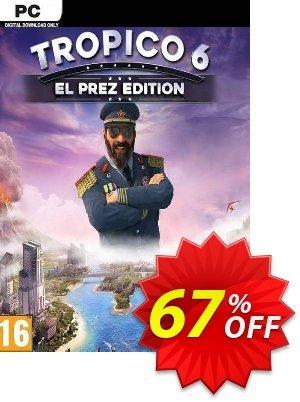 Tropico 6 El Prez Edition PC discount coupon Tropico 6 El Prez Edition PC Deal 2021 CDkeys - Tropico 6 El Prez Edition PC Exclusive Sale offer for iVoicesoft