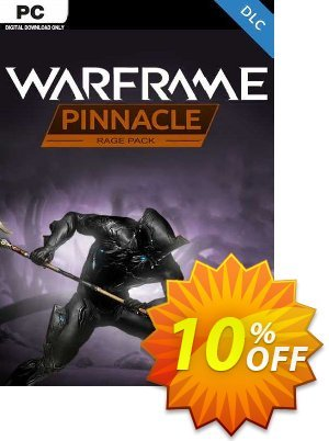 Warframe: Rage Pinnacle Pack PC - DLC discount coupon Warframe: Rage Pinnacle Pack PC - DLC Deal 2021 CDkeys - Warframe: Rage Pinnacle Pack PC - DLC Exclusive Sale offer for iVoicesoft