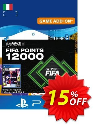 FIFA 21 Ultimate Team 12000 Points Pack PS4/PS5 (Italy) discount coupon FIFA 21 Ultimate Team 12000 Points Pack PS4/PS5 (Italy) Deal 2021 CDkeys - FIFA 21 Ultimate Team 12000 Points Pack PS4/PS5 (Italy) Exclusive Sale offer for iVoicesoft