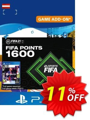 FIFA 21 Ultimate Team 1600 Points Pack PS4/PS5 (Austria) discount coupon FIFA 21 Ultimate Team 1600 Points Pack PS4/PS5 (Austria) Deal 2021 CDkeys - FIFA 21 Ultimate Team 1600 Points Pack PS4/PS5 (Austria) Exclusive Sale offer for iVoicesoft