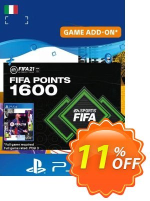 FIFA 21 Ultimate Team 1600 Points Pack PS4/PS5 (Italy) discount coupon FIFA 21 Ultimate Team 1600 Points Pack PS4/PS5 (Italy) Deal 2021 CDkeys - FIFA 21 Ultimate Team 1600 Points Pack PS4/PS5 (Italy) Exclusive Sale offer for iVoicesoft