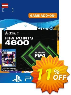 FIFA 21 Ultimate Team 4600 Points Pack PS4/PS5 (Austria) discount coupon FIFA 21 Ultimate Team 4600 Points Pack PS4/PS5 (Austria) Deal 2021 CDkeys - FIFA 21 Ultimate Team 4600 Points Pack PS4/PS5 (Austria) Exclusive Sale offer for iVoicesoft