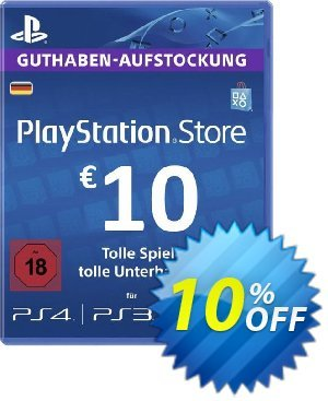 PlayStation Network (PSN) Card - 10 EUR (Germany) discount coupon PlayStation Network (PSN) Card - 10 EUR (Germany) Deal 2021 CDkeys - PlayStation Network (PSN) Card - 10 EUR (Germany) Exclusive Sale offer for iVoicesoft
