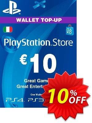 Playstation Network (PSN) Card - 10 EUR (Italy) discount coupon Playstation Network (PSN) Card - 10 EUR (Italy) Deal 2021 CDkeys - Playstation Network (PSN) Card - 10 EUR (Italy) Exclusive Sale offer for iVoicesoft