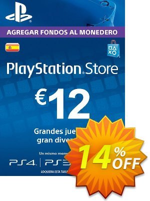 PlayStation Network (PSN) Card - 12 EUR (Spain) discount coupon PlayStation Network (PSN) Card - 12 EUR (Spain) Deal 2021 CDkeys - PlayStation Network (PSN) Card - 12 EUR (Spain) Exclusive Sale offer for iVoicesoft