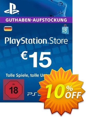 PlayStation Network (PSN) Card - 15 EUR (Germany) discount coupon PlayStation Network (PSN) Card - 15 EUR (Germany) Deal 2021 CDkeys - PlayStation Network (PSN) Card - 15 EUR (Germany) Exclusive Sale offer for iVoicesoft