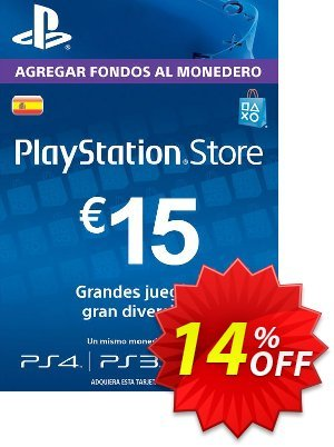 PlayStation Network (PSN) Card - 15 EUR (Spain) discount coupon PlayStation Network (PSN) Card - 15 EUR (Spain) Deal 2021 CDkeys - PlayStation Network (PSN) Card - 15 EUR (Spain) Exclusive Sale offer for iVoicesoft