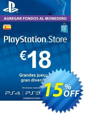 PlayStation Network (PSN) Card - 18 EUR (Spain) discount coupon PlayStation Network (PSN) Card - 18 EUR (Spain) Deal 2021 CDkeys - PlayStation Network (PSN) Card - 18 EUR (Spain) Exclusive Sale offer for iVoicesoft