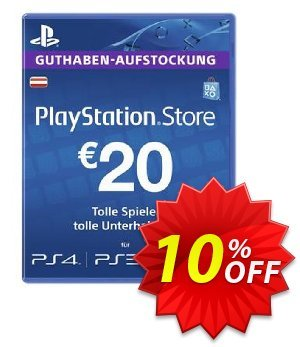 PlayStation Network (PSN) Card - 20 EUR (Austria) discount coupon PlayStation Network (PSN) Card - 20 EUR (Austria) Deal 2021 CDkeys - PlayStation Network (PSN) Card - 20 EUR (Austria) Exclusive Sale offer for iVoicesoft