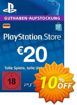 PlayStation Network (PSN) Card - 20 EUR (Germany) discount coupon PlayStation Network (PSN) Card - 20 EUR (Germany) Deal 2021 CDkeys - PlayStation Network (PSN) Card - 20 EUR (Germany) Exclusive Sale offer for iVoicesoft