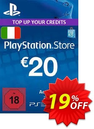 PlayStation Network (PSN) Card - 20 EUR (Italy) discount coupon PlayStation Network (PSN) Card - 20 EUR (Italy) Deal 2021 CDkeys - PlayStation Network (PSN) Card - 20 EUR (Italy) Exclusive Sale offer for iVoicesoft
