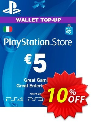 Playstation Network (PSN) Card - 5 EUR (Italy) discount coupon Playstation Network (PSN) Card - 5 EUR (Italy) Deal 2021 CDkeys - Playstation Network (PSN) Card - 5 EUR (Italy) Exclusive Sale offer for iVoicesoft