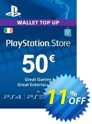 PlayStation Network (PSN) Card - 50 EUR (Ireland) discount coupon PlayStation Network (PSN) Card - 50 EUR (Ireland) Deal 2021 CDkeys - PlayStation Network (PSN) Card - 50 EUR (Ireland) Exclusive Sale offer for iVoicesoft