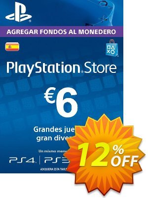 PlayStation Network (PSN) Card - 6 EUR (Spain) discount coupon PlayStation Network (PSN) Card - 6 EUR (Spain) Deal 2021 CDkeys - PlayStation Network (PSN) Card - 6 EUR (Spain) Exclusive Sale offer for iVoicesoft
