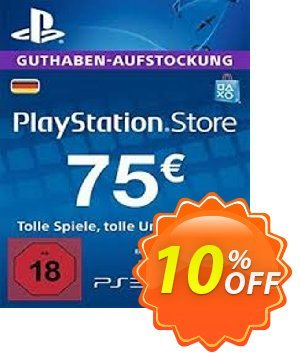 PlayStation Network (PSN) Card - 75 EUR (Germany) discount coupon PlayStation Network (PSN) Card - 75 EUR (Germany) Deal 2021 CDkeys - PlayStation Network (PSN) Card - 75 EUR (Germany) Exclusive Sale offer for iVoicesoft