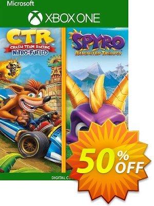 Crash Team Racing Nitro-Fueled + Spyro Game Bundle Xbox One (UK) discount coupon Crash Team Racing Nitro-Fueled + Spyro Game Bundle Xbox One (UK) Deal 2021 CDkeys - Crash Team Racing Nitro-Fueled + Spyro Game Bundle Xbox One (UK) Exclusive Sale offer for iVoicesoft