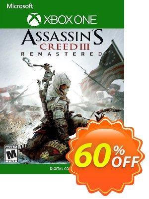 Assassin's Creed III  Remastered Xbox One (UK) Coupon, discount Assassin's Creed III  Remastered Xbox One (UK) Deal 2021 CDkeys. Promotion: Assassin's Creed III  Remastered Xbox One (UK) Exclusive Sale offer for iVoicesoft