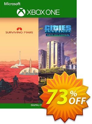 Cities: Skylines + Surviving Mars Xbox One (US) discount coupon Cities: Skylines + Surviving Mars Xbox One (US) Deal 2021 CDkeys - Cities: Skylines + Surviving Mars Xbox One (US) Exclusive Sale offer for iVoicesoft