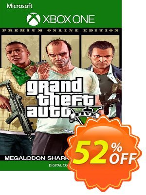 Grand Theft Auto V Premium Online Edition & Megalodon Shark Card Bundle Xbox One  (US) discount coupon Grand Theft Auto V Premium Online Edition & Megalodon Shark Card Bundle Xbox One  (US) Deal 2021 CDkeys - Grand Theft Auto V Premium Online Edition & Megalodon Shark Card Bundle Xbox One  (US) Exclusive Sale offer for iVoicesoft
