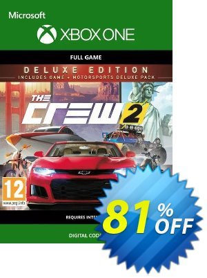 The Crew 2 - Deluxe Edition Xbox One (UK) Coupon, discount The Crew 2 - Deluxe Edition Xbox One (UK) Deal 2021 CDkeys. Promotion: The Crew 2 - Deluxe Edition Xbox One (UK) Exclusive Sale offer for iVoicesoft