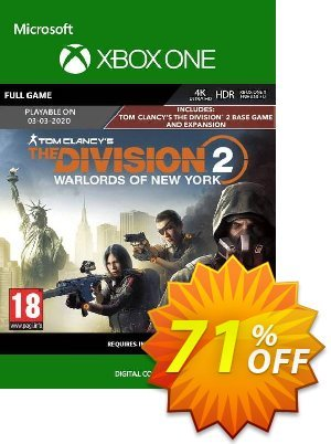 The Division 2 - Warlords of New York Edition Xbox One (UK) Coupon, discount The Division 2 - Warlords of New York Edition Xbox One (UK) Deal 2021 CDkeys. Promotion: The Division 2 - Warlords of New York Edition Xbox One (UK) Exclusive Sale offer for iVoicesoft