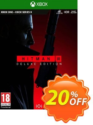 HITMAN 3 Deluxe Edition Xbox One/Xbox Series X|S (EU) Coupon, discount HITMAN 3 Deluxe Edition Xbox One/Xbox Series X|S (EU) Deal 2021 CDkeys. Promotion: HITMAN 3 Deluxe Edition Xbox One/Xbox Series X|S (EU) Exclusive Sale offer for iVoicesoft