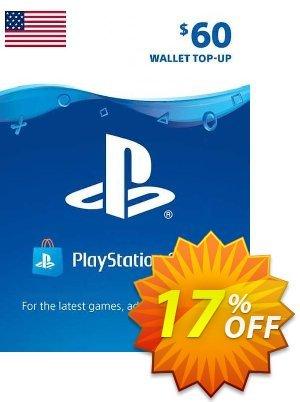 PlayStation Network (PSN) Card - 60 USD (USA) Coupon discount PlayStation Network (PSN) Card - 60 USD (USA) Deal 2021 CDkeys