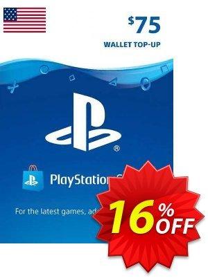 PlayStation Network (PSN) Card - 75 USD (USA) Coupon discount PlayStation Network (PSN) Card - 75 USD (USA) Deal 2021 CDkeys