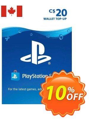 PlayStation Network (PSN) Card - 20 CAD (CANADA) 優惠券,折扣碼 PlayStation Network (PSN) Card - 20 CAD (CANADA) Deal 2021 CDkeys,促銷代碼: PlayStation Network (PSN) Card - 20 CAD (CANADA) Exclusive Sale offer for iVoicesoft