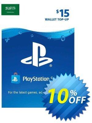 PlayStation Network (PSN) Card - 15 USD (KSA) Coupon discount PlayStation Network (PSN) Card - 15 USD (KSA) Deal 2021 CDkeys