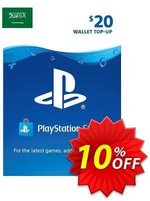 PlayStation Network (PSN) Card - 20 USD (KSA) Coupon discount PlayStation Network (PSN) Card - 20 USD (KSA) Deal 2021 CDkeys