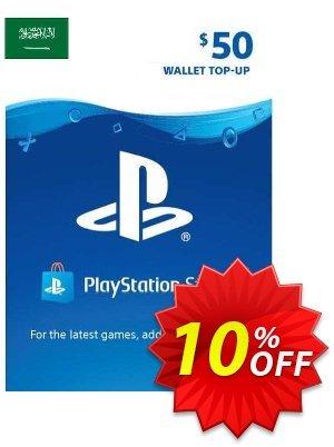 PlayStation Network (PSN) Card - 50 USD (KSA) Coupon discount PlayStation Network (PSN) Card - 50 USD (KSA) Deal 2021 CDkeys