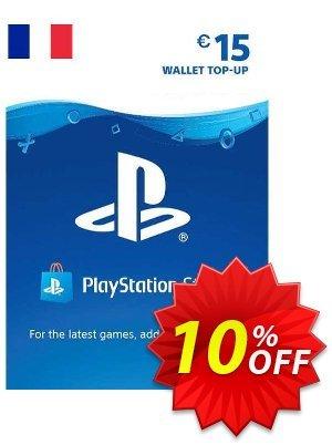 PlayStation Network (PSN) Card - 15 EUR (FRANCE) 優惠券,折扣碼 PlayStation Network (PSN) Card - 15 EUR (FRANCE) Deal 2021 CDkeys,促銷代碼: PlayStation Network (PSN) Card - 15 EUR (FRANCE) Exclusive Sale offer for iVoicesoft