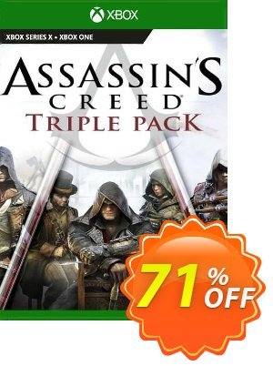 Assassin's Creed Triple Pack: Black Flag, Unity, Syndicate Xbox One (UK) 優惠券,折扣碼 Assassin's Creed Triple Pack: Black Flag, Unity, Syndicate Xbox One (UK) Deal 2021 CDkeys,促銷代碼: Assassin's Creed Triple Pack: Black Flag, Unity, Syndicate Xbox One (UK) Exclusive Sale offer for iVoicesoft